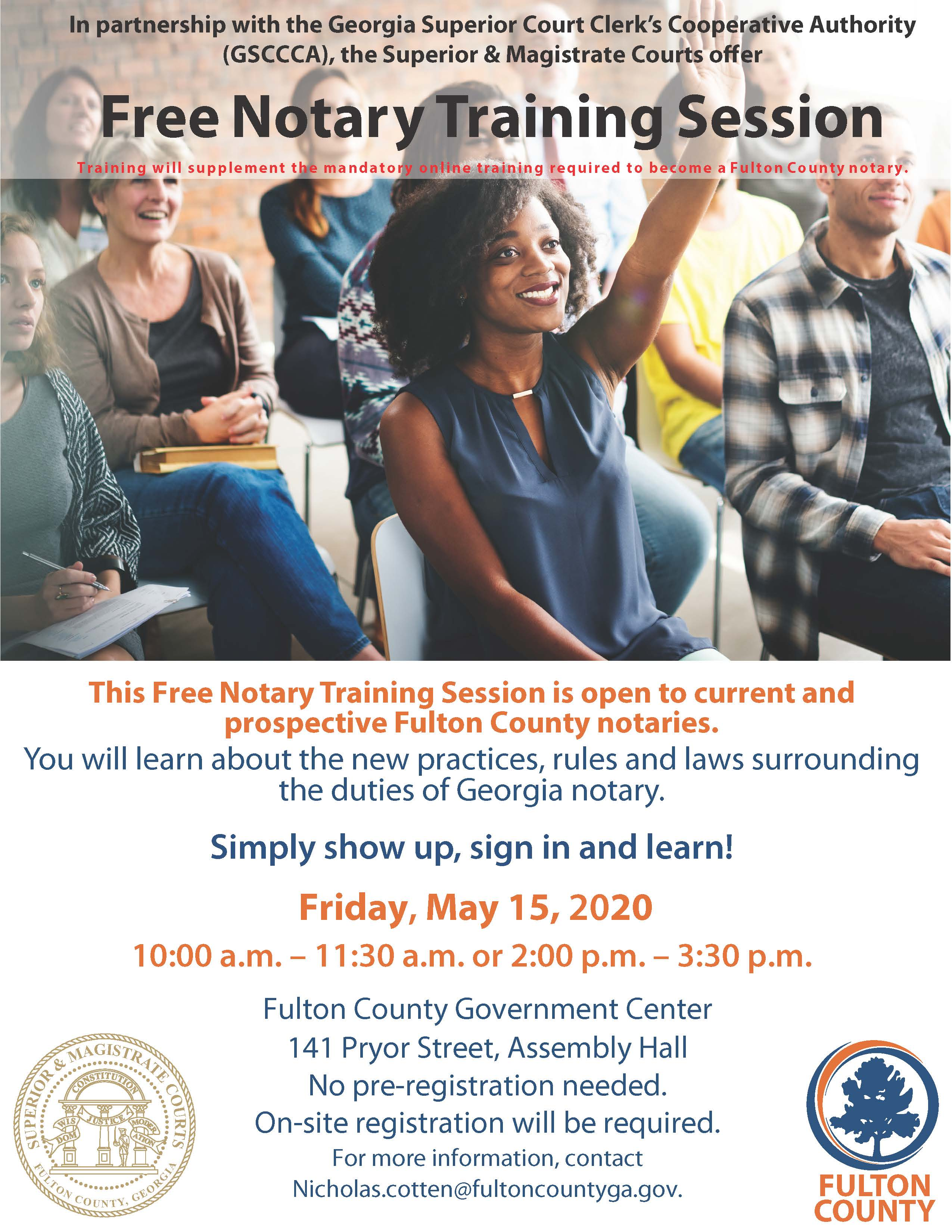 2020 Notary Training Flyer