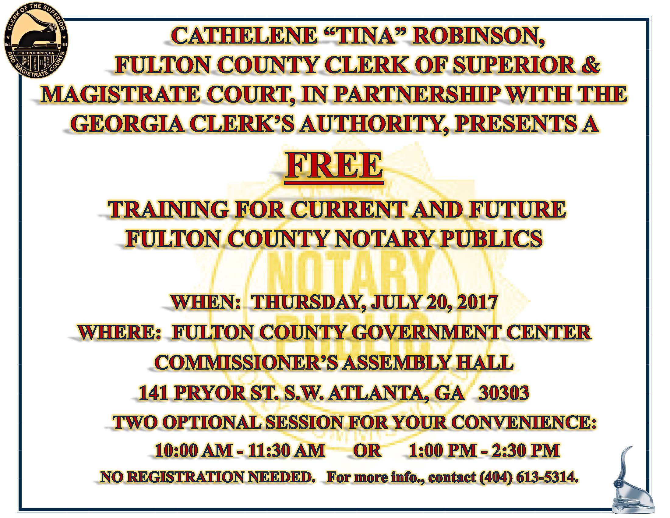 Notary Training Flyer